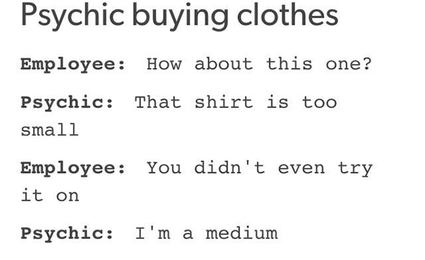 Tickled #672: Psychic Buying Clothes