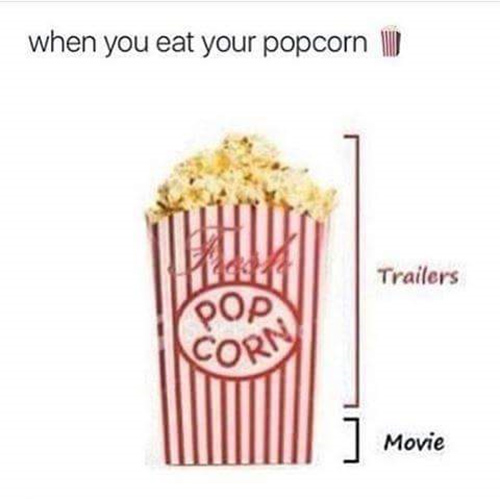Tickled #684: When you eat popcorn.