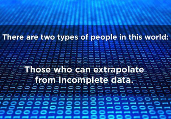 Tickled #686: There are two types of people in this world: Those who can extrapolate from incomplete data,